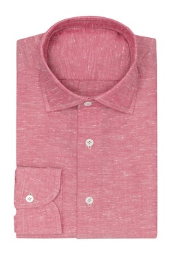 Red White Slub Oxford Shirt