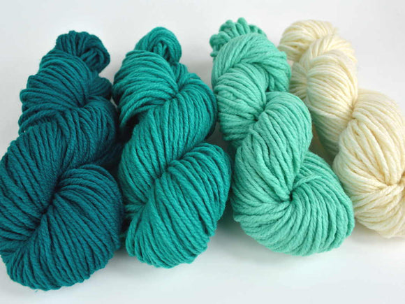 Ombre Teal Yarn Pack
