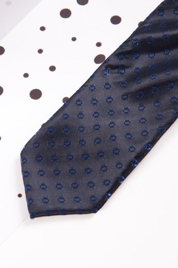 Childrens Navy Spot Print Tie - Mens Tweed Suits