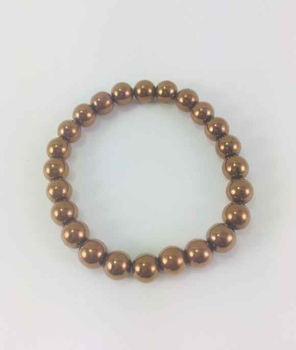 Crystal Bracelet - Hematite, Copper - Essential Relaxation