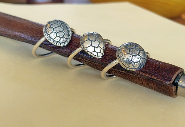 Silver Turtle Shell Ring