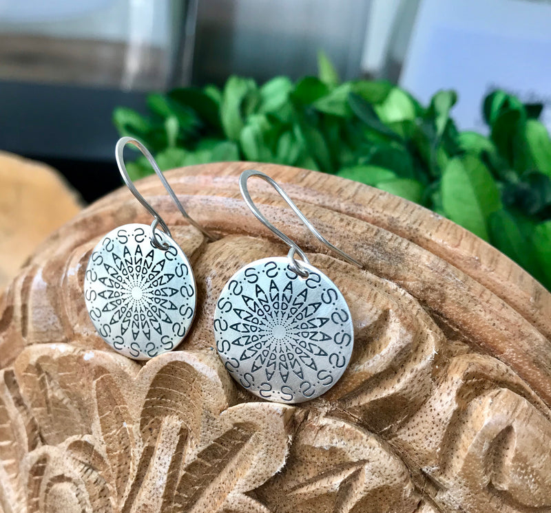 Namedala® - Mandala Name Earrings