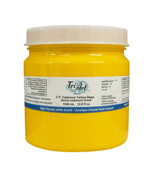 Tri-Art High Viscosity Paint, 1000ml, Deep C.P. Cadmium Yellow