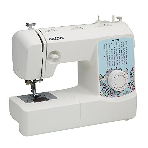Brother XR3774 Full-Featured Quilting Machine with 37 Stitches, 8 Sewing Feet, Wide Table, and Instructional DVD, Red