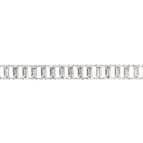 Belagio Enterprises 5/8-inch Rhinestone Trim 5 Yards, Silver/Crystal