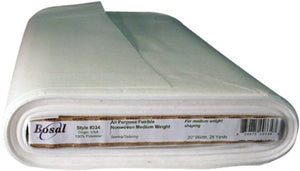 Bosal Fusible Non-Woven All Purpose Interfacing, 20-Inch by 25-Yard, White