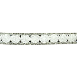 Belagio Enterprises BR-7551-1 Iron-On Eyelet Lace Rhinestone Trim