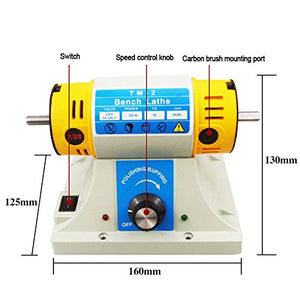 350W Bench Lathe Polisher Jewelry Jade Rock Polishing Buffer Machine - 110V