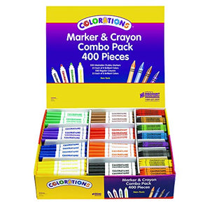 Colorations Marker & Crayon Combo Pack - 400 Pieces (Item # MARCRAY)