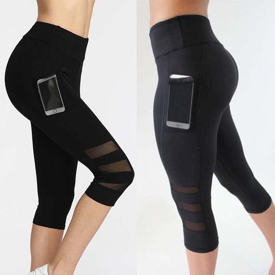Workout Leggings With Pockets for your Phone - Black