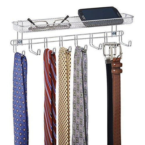 Catenus Closet Wall Mount Accessory Organizer for Storage of Ties, Belts, Watches, Glasses, Accessories