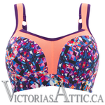 Panache Full Busted Uw Sports Bra Kaleidoscope Multi