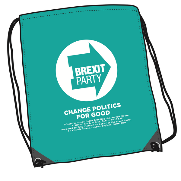 OFFICIAL Brexit Party Drawstring