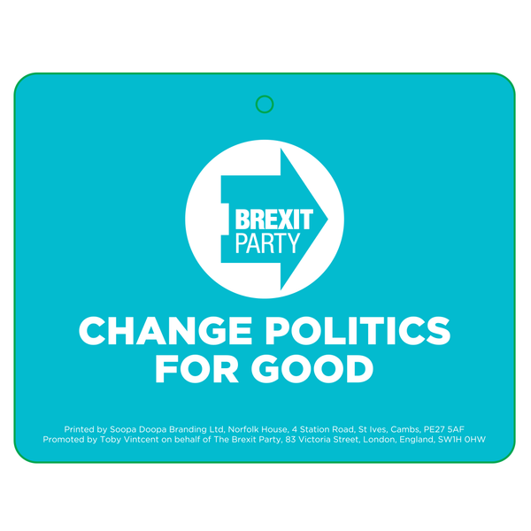 OFFICIAL Brexit Party Car Air Freshener
