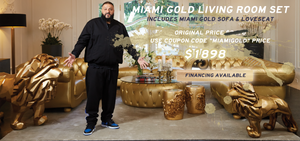 Miami Gold Sofa Set