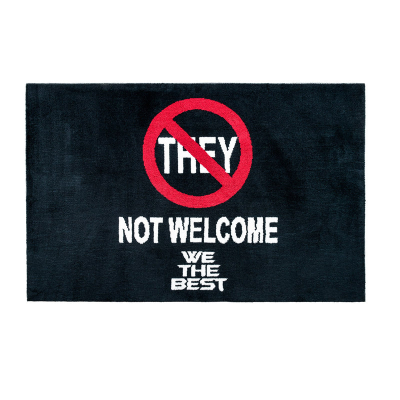 BOLD NO THEY AREA RUG - BLACK