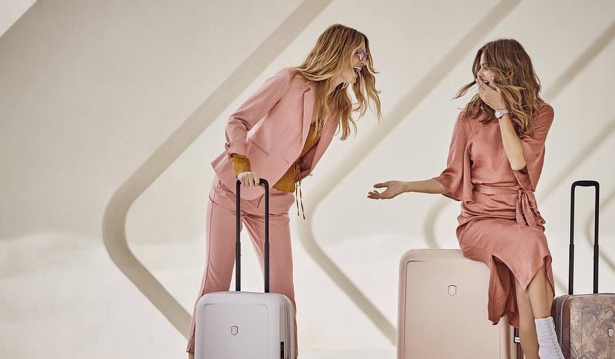 Image Features the vibrant light pink Victorinox Connex Collection