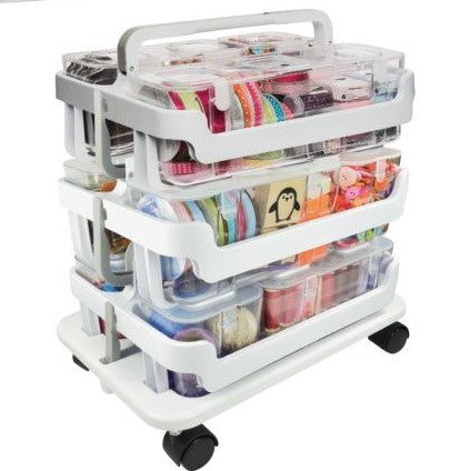 DEFLECTO STACKABLE CADDY ORGANIZER KIT