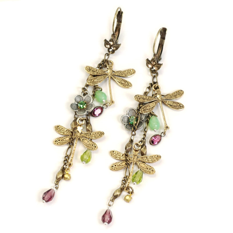 Dragonflies Dangles Earrings E1189