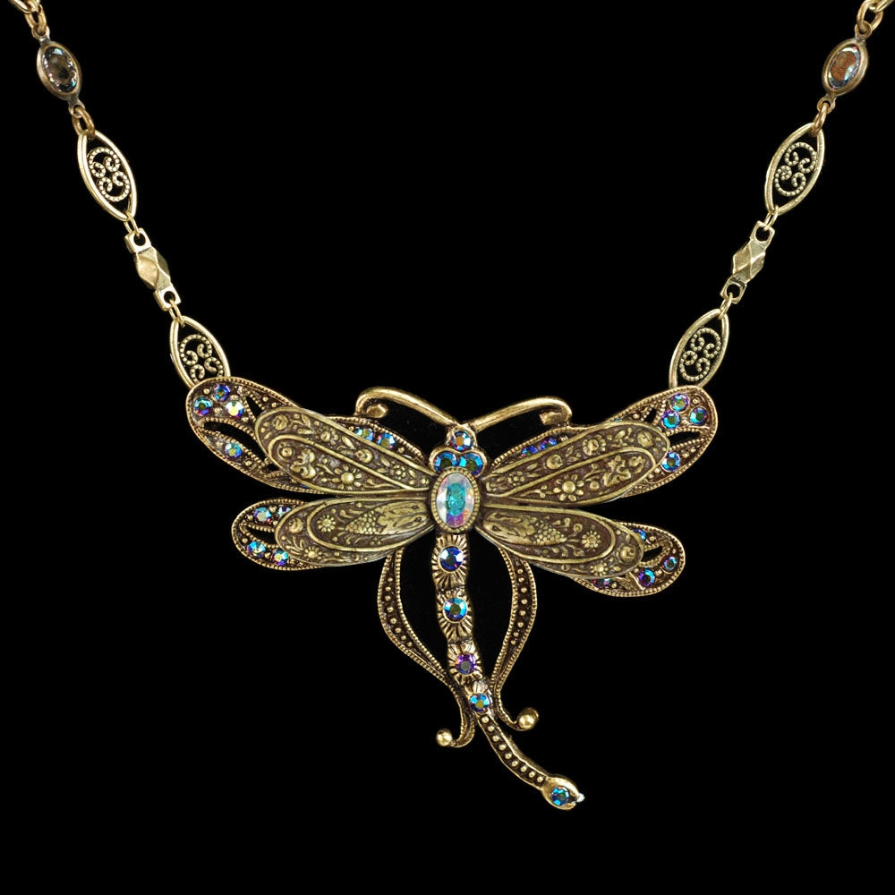 Iridescent Dragonfly Necklace