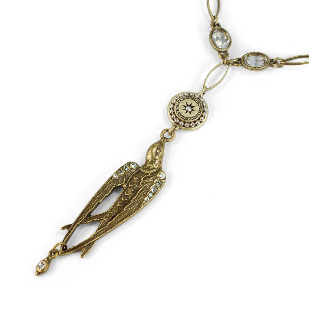 Vintage Swallow Bird Necklace N1290