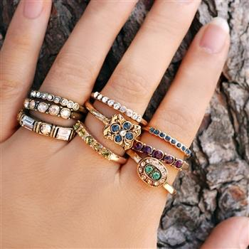 Set of 3 Inspirational Stacking Rings