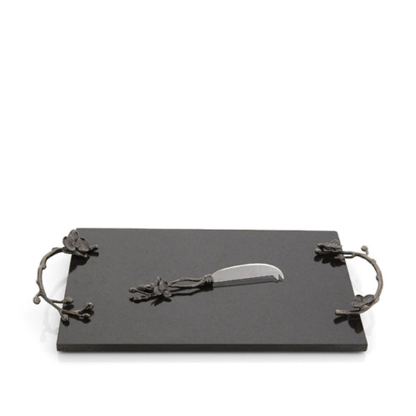 Black Orchid Cheeseboard with Knife