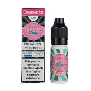 Strawberry Macaroon 10ml Nic Salt E-Liquid by Dinner Lady