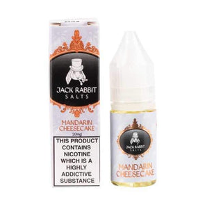 Mandarin Cheesecake 10ml Nic Salt E-Liquid by Jack Rabbit