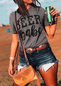 Beer Babe T Shirt Top