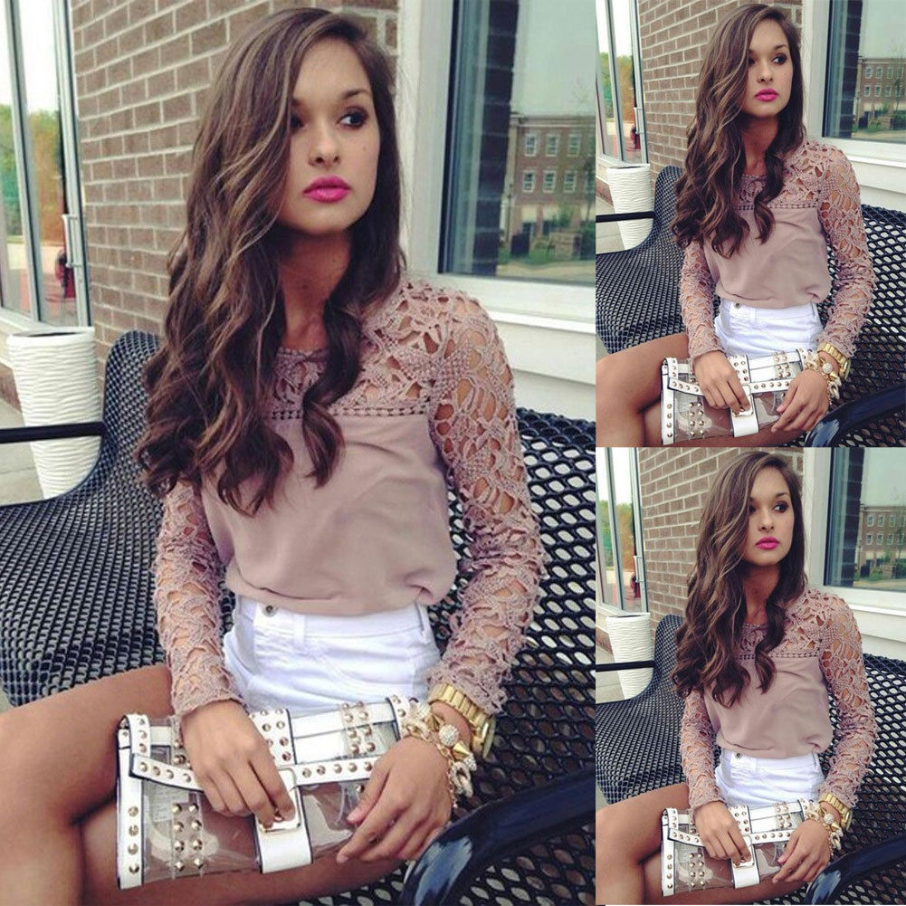 Floral Lace Sleeve Blouse Top