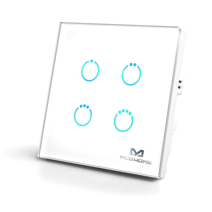 Z-Wave MCO Touch Panel Switch - Four Load - Gen5 - UK Migration_Wall Switches MCO