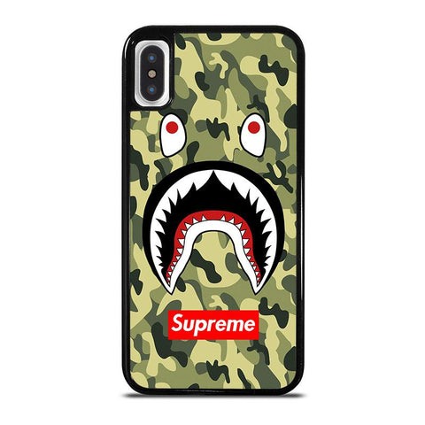 BAPE-BATHING-CAMO-SHARK-SUPREME-iphone-x-case-cover