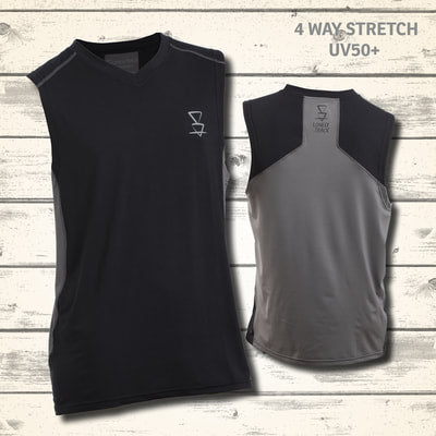 Mohaka Singlet - Black/ Grey