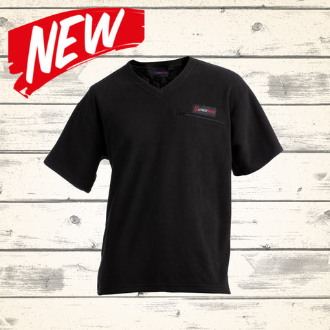 Venture Vee Zip Tee - Black - NEW!