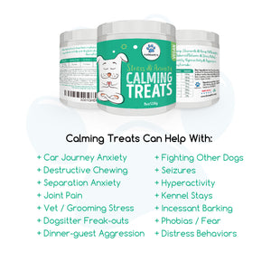 KarmaPets Calming Treats for Dogs - Hemp Infused for Anxiety Relief