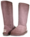 Both classic tall sheepskin boots in chocolate
