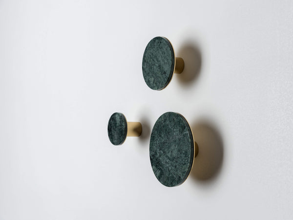 Set of marble hooks green | colour | houseof.com