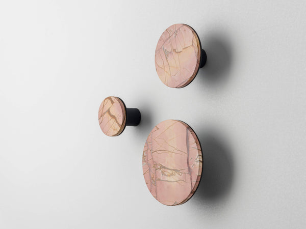 Set of marble hooks pink | zoom | houseof.com