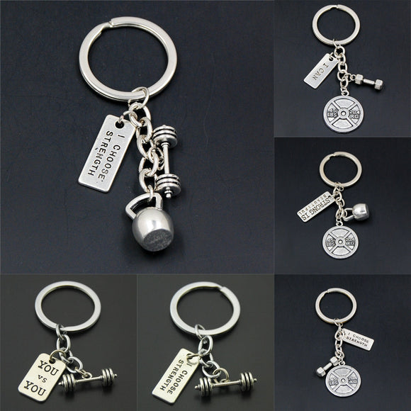 Sports Dumbbell Key Chains