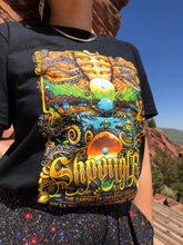 "Load image into Gallery viewer, Red Rocks ""Garden of Unearthly Delights"" Black T-Shirt"