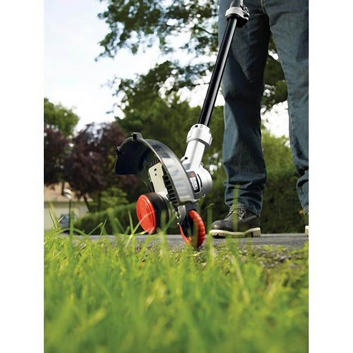 Black and Decker LST400 String Trimmer used as an edger