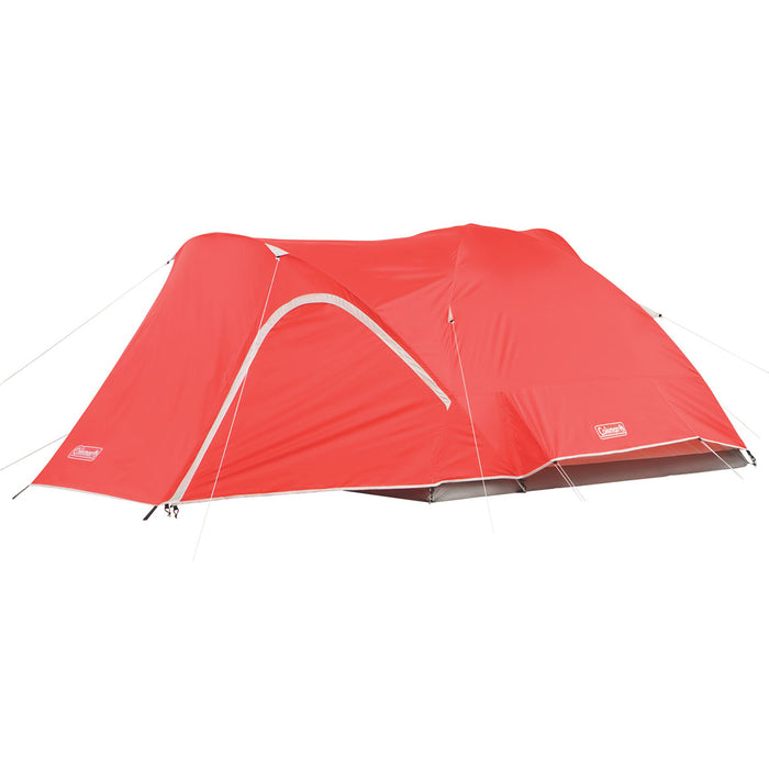 Coleman 2000018289 9-Foot x 7-Foot 4-Person Hooligan Backpacking Tent - Red