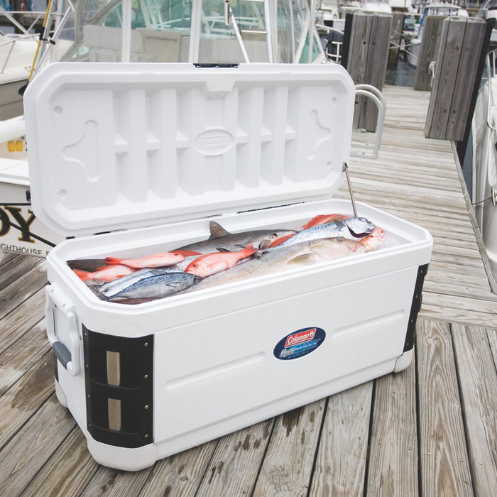 Coleman 3000002237 200-Quart Offshore Pro Series Marine Cooler - White