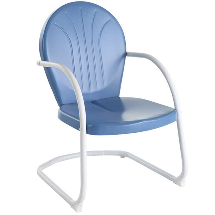 Crosley CO1001A-BL Sturdy Steel Construction Griffith Metal Chair - Sky Blue