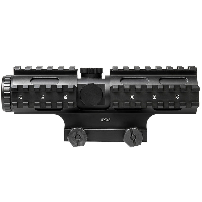 NcStar SC3RSM432B 4x32mm Tri-Rail Series Sighting System Mil-Dot Compact Scope
