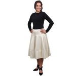 Elle Skirt (Metallic Gold)
