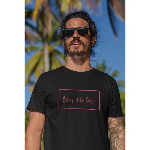 Obey The Code - Mens Tee-Mens-Conway + Banks Hockey Co.-Conway and Banks Hockey Co.