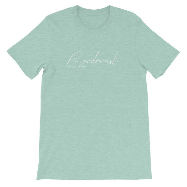 Bardownski Signature Mens Tee-Mens-Conway + Banks Hockey Co.-Heather Prism Dusty Blue-XS-Conway and Banks Hockey Co.