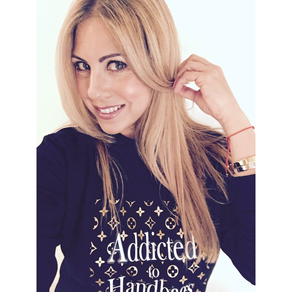 SPECIAL EDITION EXCLUSIVE ADDICTED TO HANDBAGS SWEATSHIRT Black